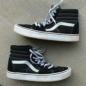 Vans high tops ultra cush black sneakers size 9.5